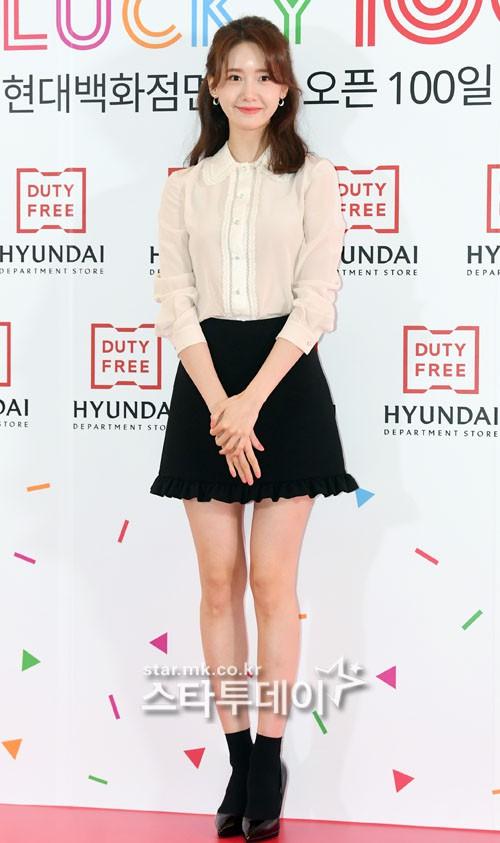 So với trước đây, đôi chân của Yoona đã bớt cong hơn nhiều.
