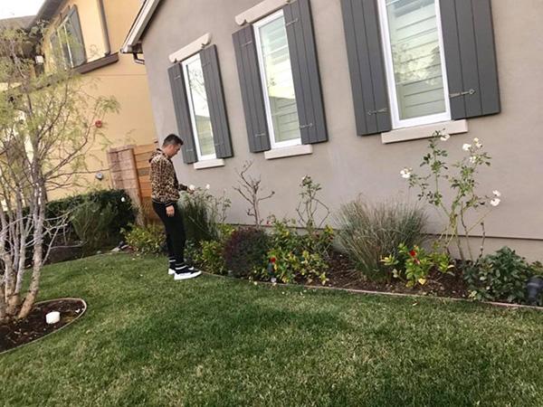 Xung quanh nhà, Mr Đàm trồng nhiều loại cây cối, hoa cảnh trang trí. Ở Việt Nam, Đàm Vĩnh Hưng cũng có một biệt thự rộng 400m2 ở quận 10, TP HCM.