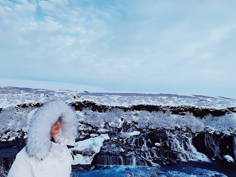 Bảo Anh đăng ảnh check-in tại Iceland vào ngày 14/2.