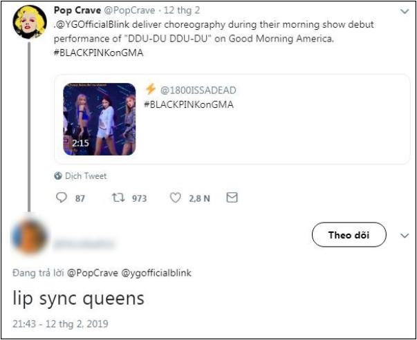 Mỹ tiến chưa lâu, Black Pink bị nghi ngờ hát nhép trên sân khấu 'Good Morning America' 1