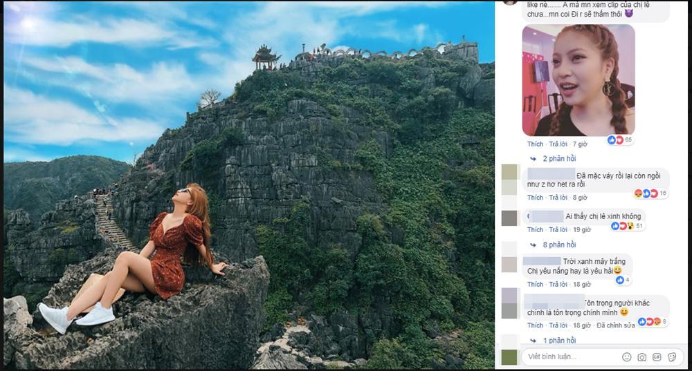 Nhật Lê bị 'ném đá' khi chụp ảnh sexy ở Hang Múa - Ninh Bình.