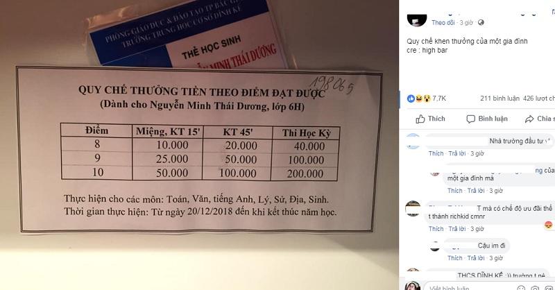Hình ảnh được tài khoản T.Q đăng tải trên một diễn đàn dành cho học sinh