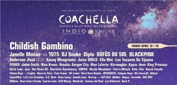 Theo lịch trình mà ban tổ chức Coachella công bố, Black Pin sẽ biểu diễn cùng dàn nghệ sĩ tên tuổi bao gồm DJ Snake, Diplo... vào hai ngày 12/4 và 19/4.