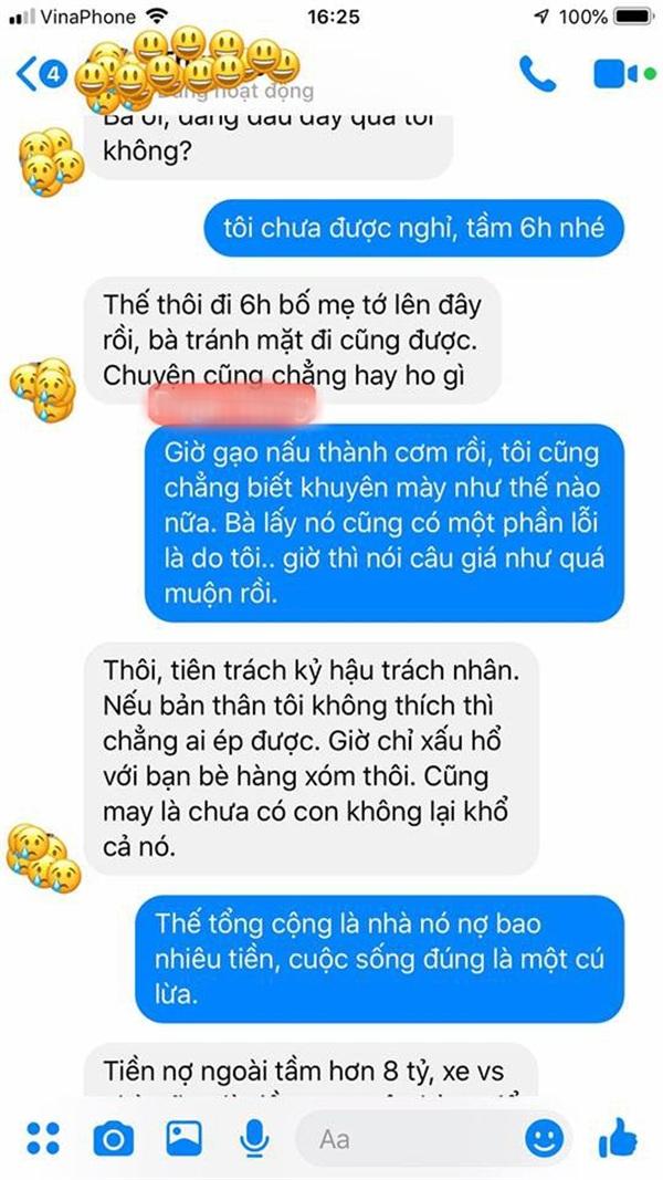 Những dòng tin nhắn than thở của cô dâu mới và người bạn thân
