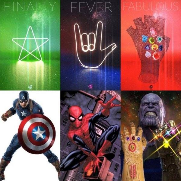 Cũng theo tin đồn, các cô gái sẽ chia nhau thể hiện từng nhân vật siêu anh hùng nổi tiếng trong vũ trụ điện ảnh Marvel khác nhau. Các biểu tượng trong 3 teaser đều ít nhiều liên quan đến những nhân vật của Marvel.