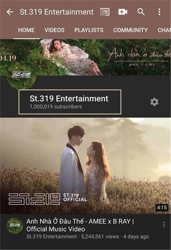 Dấu mốc ấn tượng mà ST.319 Entertainment vừa đạt được.