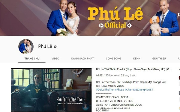 Hình ảnh trên kênh của Phú Lê. Ảnh chụp màn hình