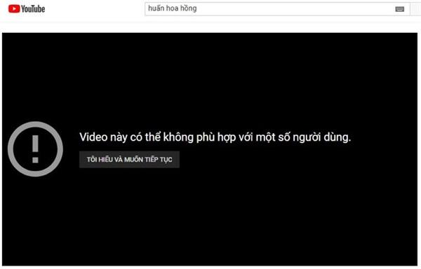 Cảnh báo của YouTube trở nên vô nghĩa khi vẫn cho phép clip văng tục, bậy bạ xuất hiện tràn ngập. Ảnh chụp màn hình