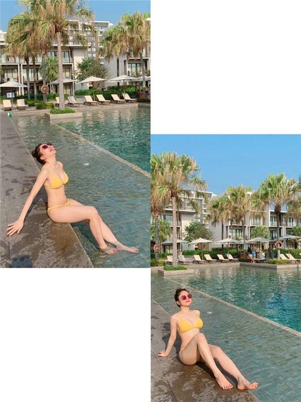 Thông thường, các bức ảnh bikini của Trâm Anh luôn nhận được 'bão like'và nhiều lời khen ngợi từ cư dân mạngchỉ sau ít giờ xuất hiện trên facebook.