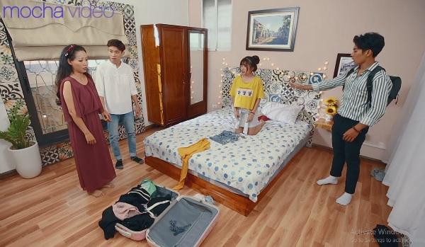 'Ảo tưởng tuổi 17' (tập 3): Mới sống chung ngày đầu tiên, hot streamer Linh Ngọc Đàm đã bắt gặp ngay cảnh hotboy cởi trần 2
