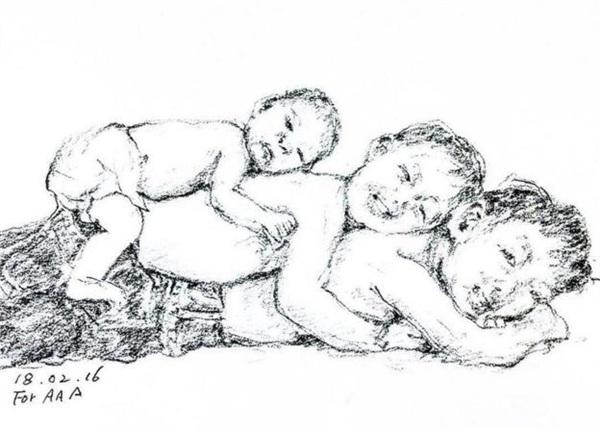 Gia đình sống tứ xứ, vợ chồng cụ ông vẽ hàng nghìn bức tranh 'kể chuyện' cho con cháu trên Instagram làm lay động MXH 2