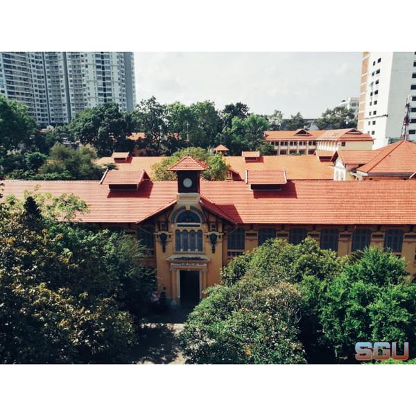 Cận cảnh ĐH Sài Gòn nhìn từ trên cao.
