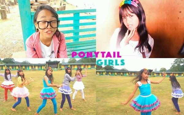 Ponytail Girl từng gây ấn tượng với thần thái biểu cảm và phong cách 'quê quê' chân chất.
