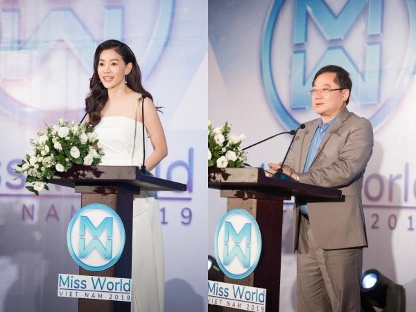 Hoa hậu Tiểu Vy, Mỹ Linh đọ nhan sắc khi làm đại sứ 'Miss World Vietnam' 2019 3