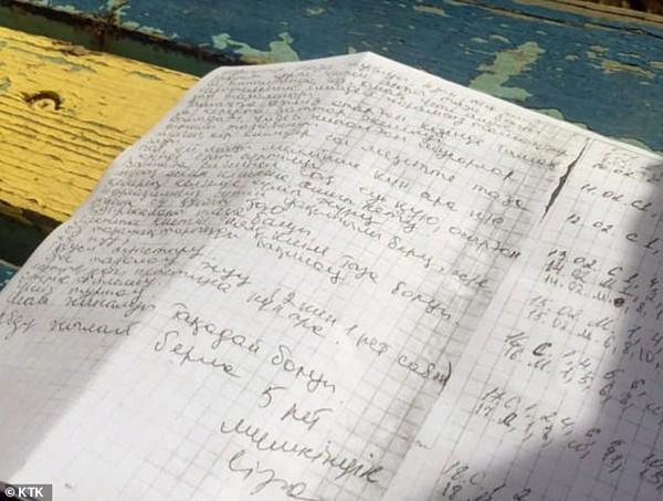 Cuốn nhật ký mô tả chi tiết quá trình tra tấn của bà mẹ kế.