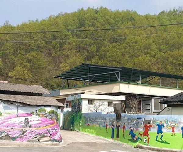 Loạt ảnh chụp tranh bích họa độc đáo có xuất hiện dàn cầu thủ Việt ở quê nhà HLV Park Hang-seo 3