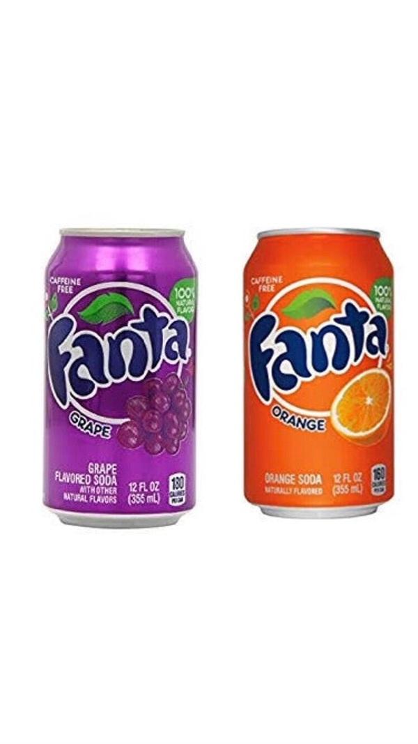 Nước uống Fanta chính hiệu với hương nho & cam.