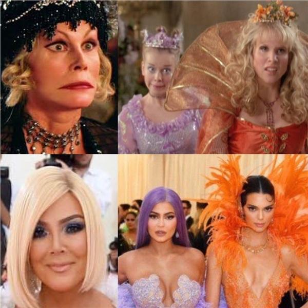 Cả mẹ cả Kris Jenner cũng tham gia với vai dì ghẻ.