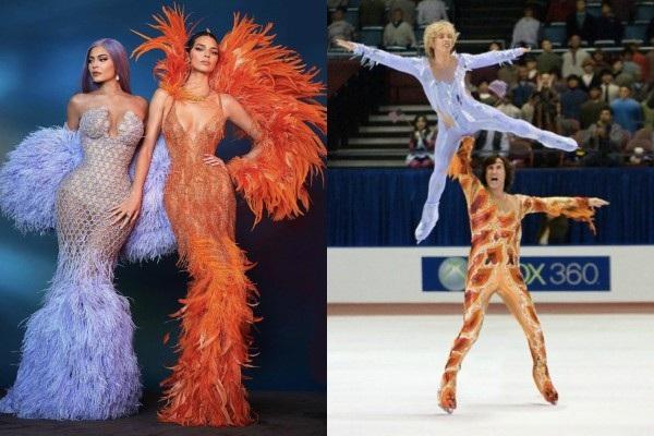 Đặt cạnh 2 vận động viên trượt băng nghệ thuật thì cũng không 'oan chút nào'.