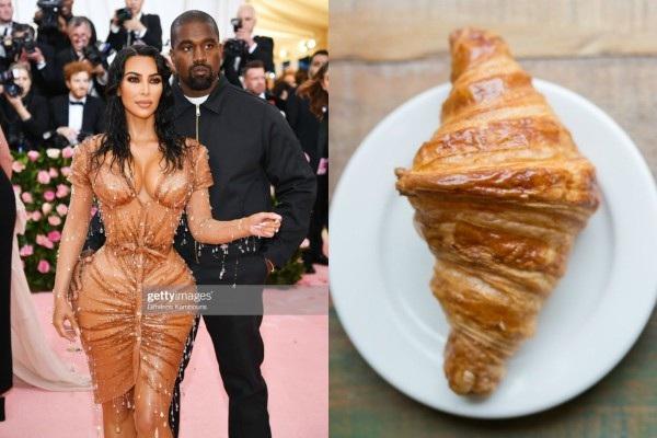 Bữa sáng được dọn ra rồi đây. Chiếc váy 'ngoi lên từ biển cả' được Thierry Mugler thiết kế riêng cho Kim Kardashian bỗng dưng bị liên tưởng tới bánh croissant.
