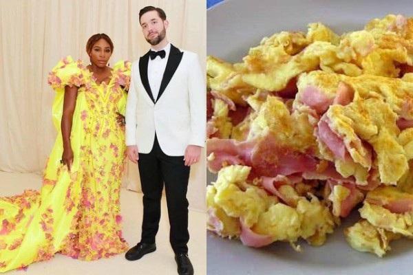Trong khi đó, chiếc váy hoa của vận động viên quần vợt Serena Williams mang lại cảm giác về món trứng giăm bông.