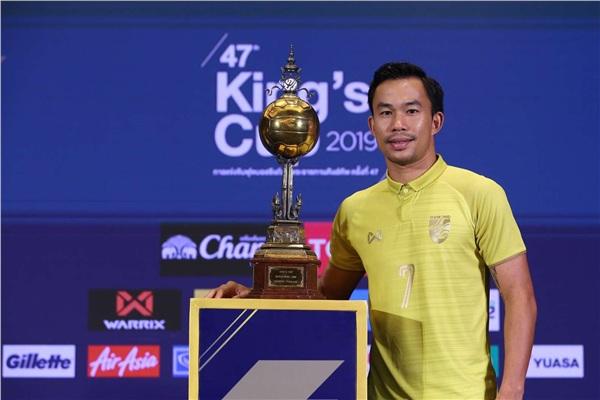 Tiền vệ Sumanya tại buổi họp báo King's Cup 2019