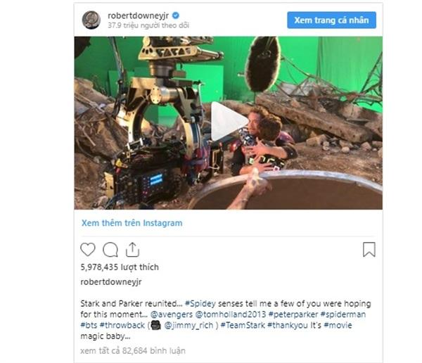 Hình ảnh đượcRobert Downey Jr. chia sẻ trên instagram.