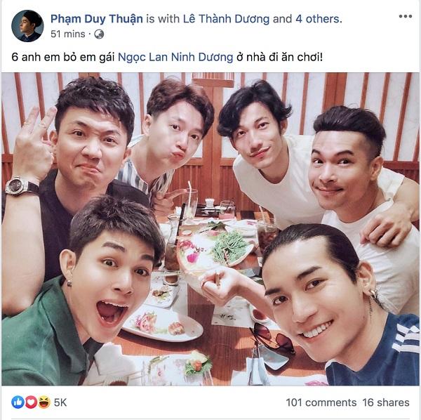 Jun Phạm đăng ảnh cả team đi ăn nhưng không có mặt Lan Ngọc