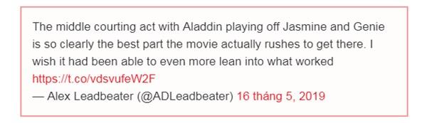 Những review đầu tiên về 'Aladdin' của báo chí Mỹ: Tưởng không hay mà hay không tưởng 4