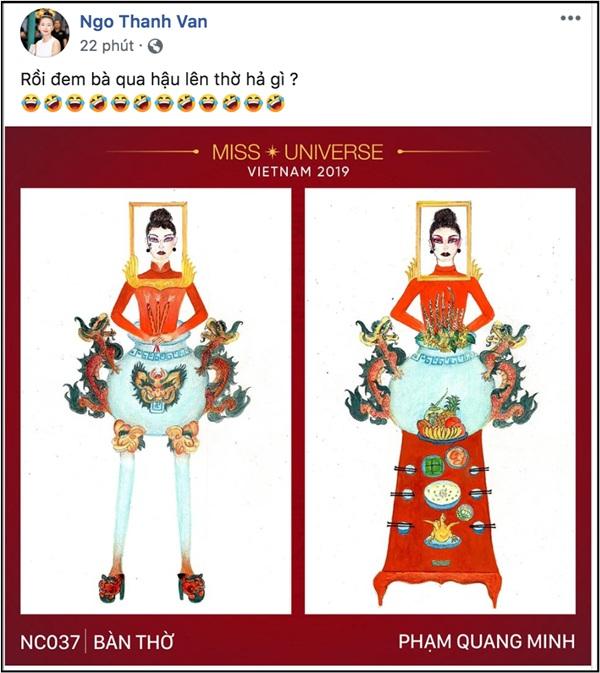 Ngô Thanh Vân cũng 'cạn lời' trước bộ trang phục này.
