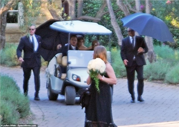 Paparazzi phải 'ẩn náu' từ xa để có được những bức ảnh trong hôn lễ của tài tử 'Avengers'
