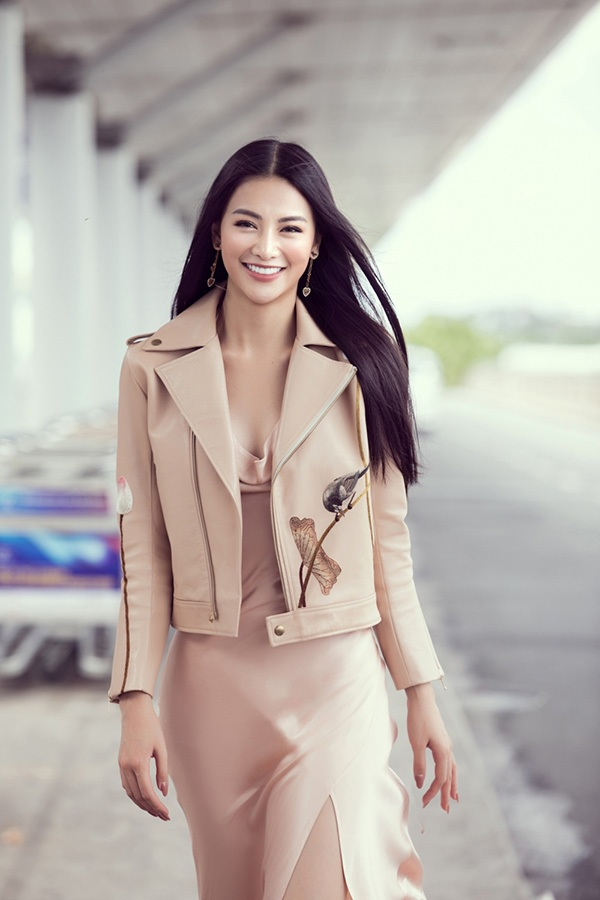 Hoa hậu Phương Khánh lên đường chấm thi Miss Earth Singapore 2019 3