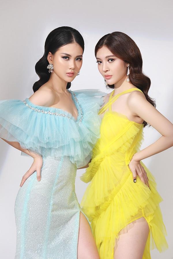Thực hiện bộ ảnh cùng cô là Bùi Lý Thiên Hương - Hoa hậu Việt Nam toàn thế giới.
