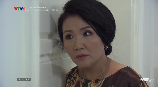 Thì vô tình, bà Giang (Ngân Quỳnh)đã nghe thấy cuộc nói chuyện của hai vợ chồng