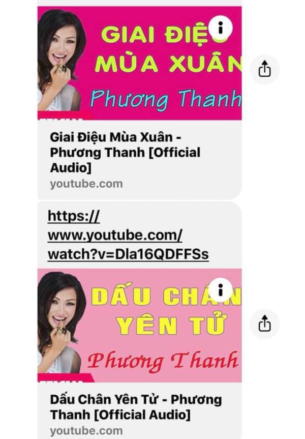 Phương Thanh tung bằng chứng 'tố' đơn vị mua tác quyền ca khúc trên cũng từng đăng tải không xin phép hình ảnh và ca khúc của cô.