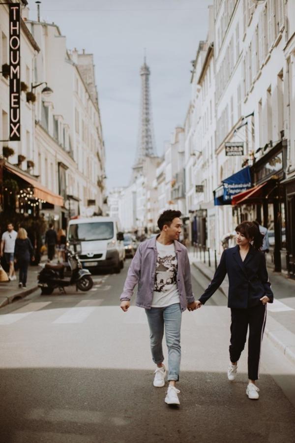 Bộ ảnh đậm chất 'Chuyện tình Paris' của Trấn Thành - Hari Won khiến ai cũng 'hạnh phúc lây' 2