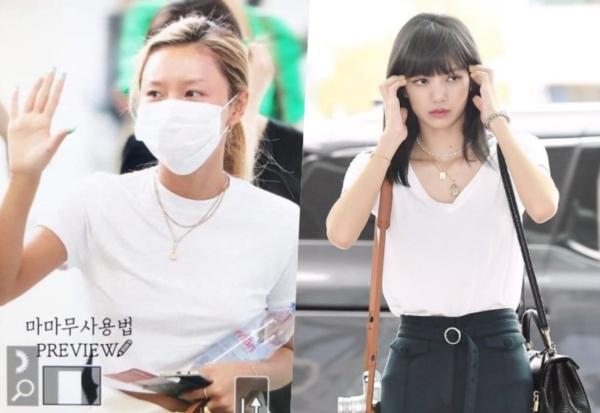 Cùng khoe dáng với áo thun trắng, Lisa được khen nền nã giản dị, Hwasa phản cảm với style no-bra 0