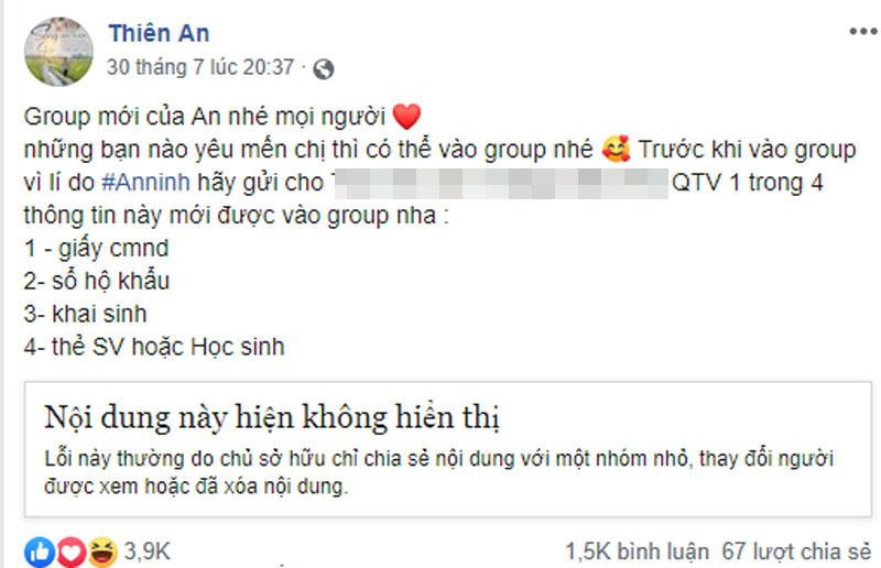 Thiên An lên tiếng nói về việc 'yêu cầu fan nộp CMND': 'Trước khi lấy thông tin, mình đã xin ý kiến của fan' 1