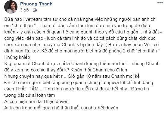 Bài đăng của Phương Thanh.