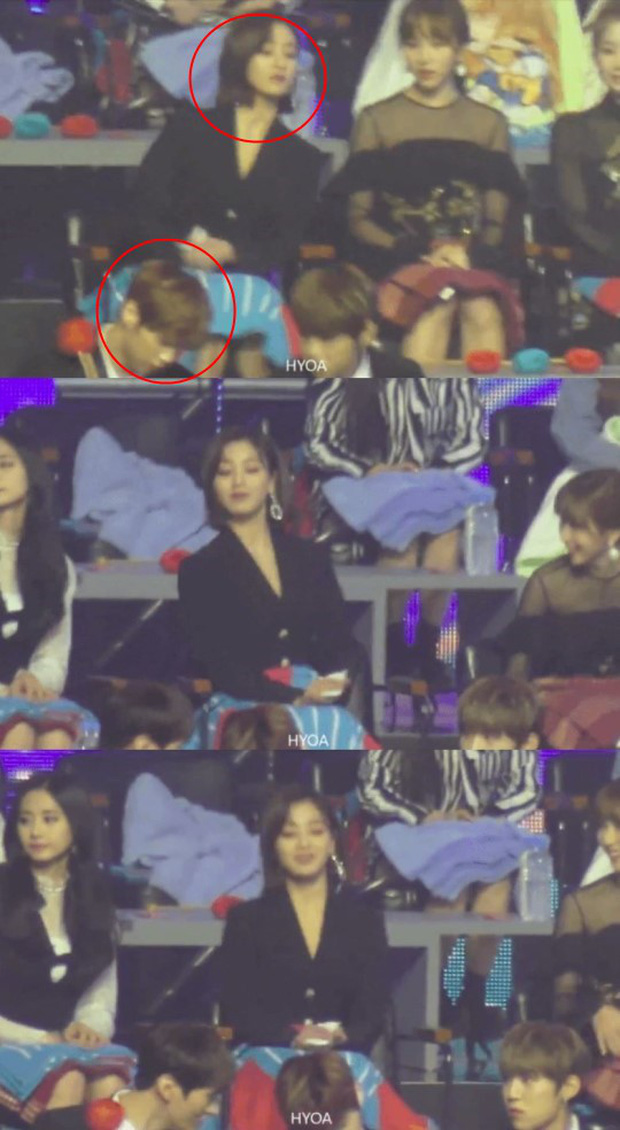 Cư dân mạng phát hiệnJihyo đã đổi chỗ để ngồi ngay đằng sau Kang Daniel.
