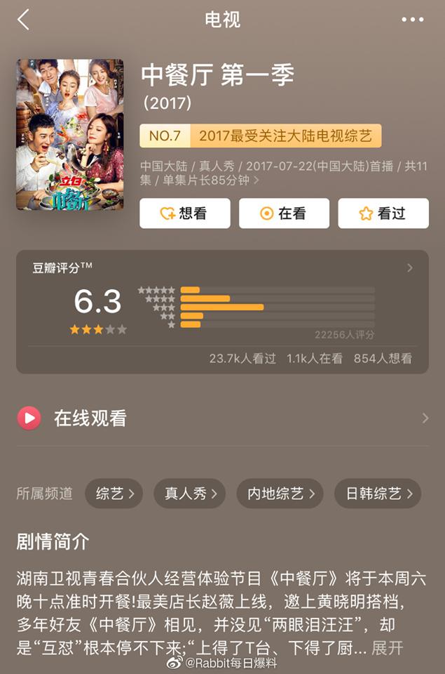 Mùa 1 có sự góp mặt của Triệu Vy, Huỳnh Hiểu Minh, Châu Đông Vũ.