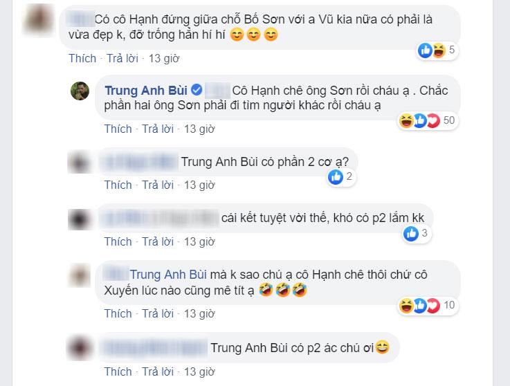 Bình luận của NSƯT Trung Anh thu hút sự chú ý của nhiềungười.