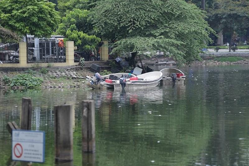 Lực lượng chức năng đã phải thu dọn, vớt xác cá chết cả tuần qua.