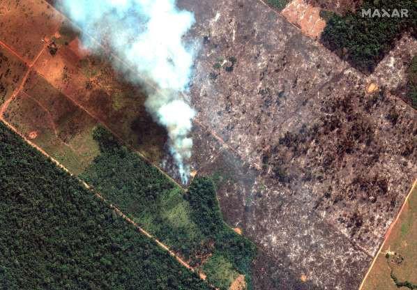 Những hình ảnh cháy rừng Amazon nhìn từ vệ tinh (ảnh: NOAA)