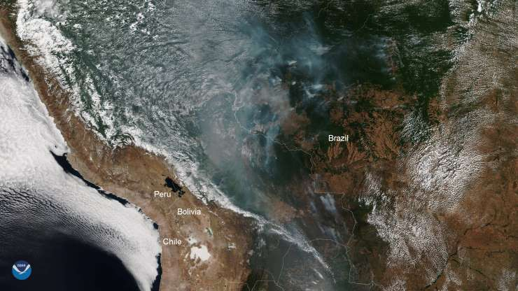 Kinh hoàng cháy rừng Amazon nhìn từ không gian và nguyên nhân bất ngờ phía sau 0