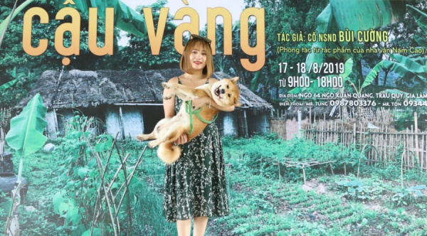 'Ngôi sao tương lai' của dự án điện ảnh Cậu Vàng là một chú chó Shiba Inu sáng sủa, nhanh nhẹn, ngay từ đầu đã chiếm được thiện cảm của đạo diễn Trần Vũ Thủy.