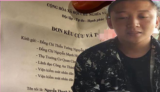 Trước đó Trung đã làm đơn tố cáo người bạn cùng nhóm người xâm hại tình dục con gái 6 tuổi nhưng công an điều tra và khẳng định sự việc không có thật.