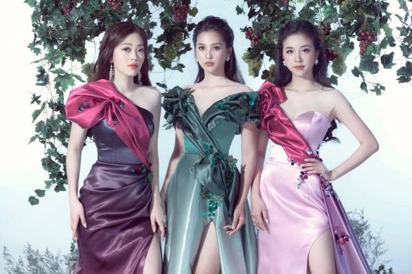 Top 3 Hoa hậu Việt Nam 2018: Hoa hậu Tiểu Vy, Á hậu Phương Nga và Á hậu Thúy An.