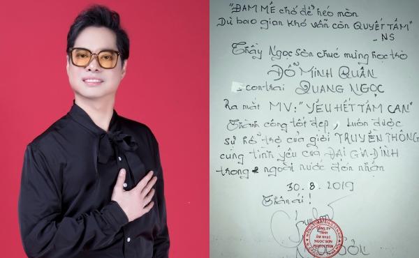 Ngọc Sơn viết thư tay cho học trò