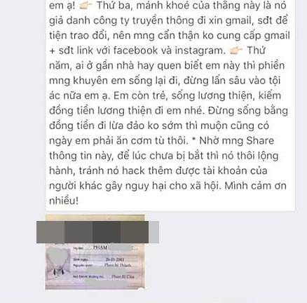 Thông báo của Quỳnh Anh sau khi đã lấy lại được tất cả tài khoản một cách an toàn, và tố cáo đích danh kẻ gian.
